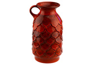 Jasba-Keramikfabriken West German Pottery Pitcher 3313-26 Orange Pineapple Vase