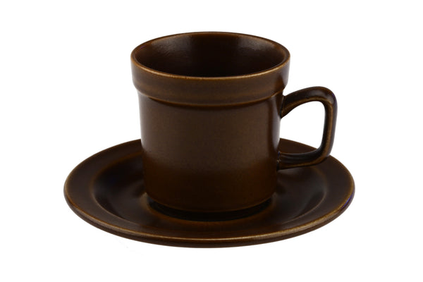 Stavangerflint Brown Coffee Cup and Saucer