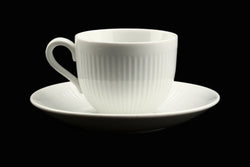 Rorstrand Sweden Kolorita White Coffee Cup and Saucer