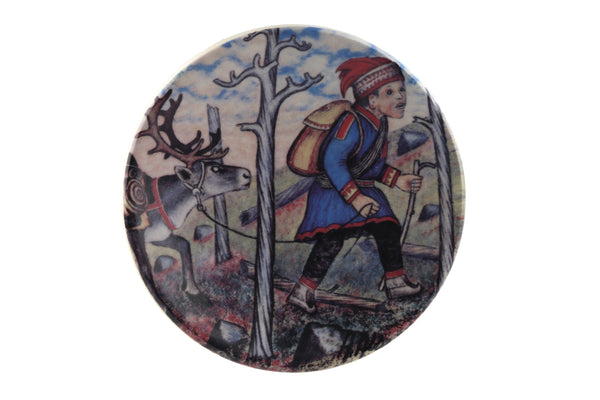 Arabia Finland Small Wall Plate, Lapland Postman
