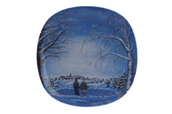 Arabia Finland Small Wall Plate, Winter Atmosphere