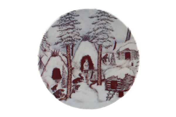 Arabia Finland Small Wall Plate, a Village in Winter Time