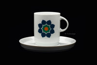 Thomas Rosenthal Porcelain China Pop Art Flower Cup and Saucer