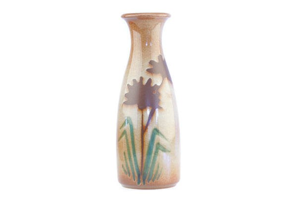 Scheurich West German Pottery Vase with Floral Design