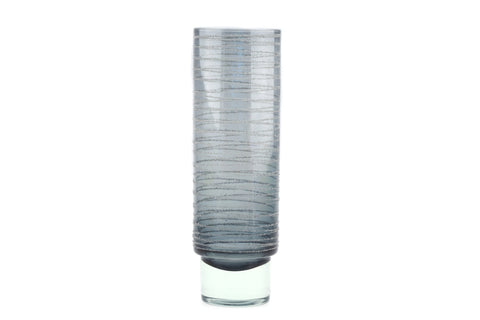 Sea Glasbruk Smokey Grey Glass Vase