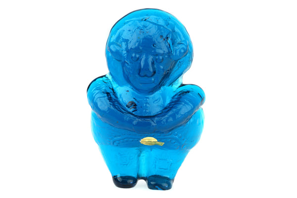 Lindshammar Crystal Turquoise Paperweight Figurine