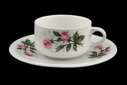 Villeroy and Boch Demitasse Cup and Saucer Romantic Pink Roses