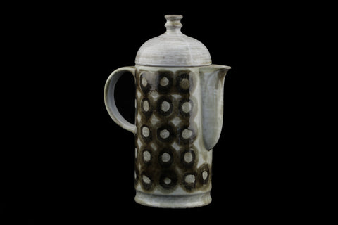 Ceramano Gerda Heuckeroth Coffee Pot Tique Pattern..