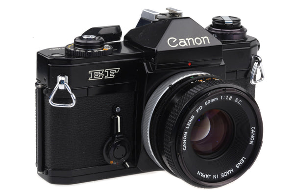 Canon EF - 35mm Film Camera with Canon 50mm 1:1.8 S.C. / Fully Working! (Electronic version of the Canon F1)
