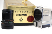 Hasselblad 500 EL/M NASA 20 Years In Space Edition (#1389) With Carl Zeiss Distagon 50mm 1:4 in very good (Mint) Condition
