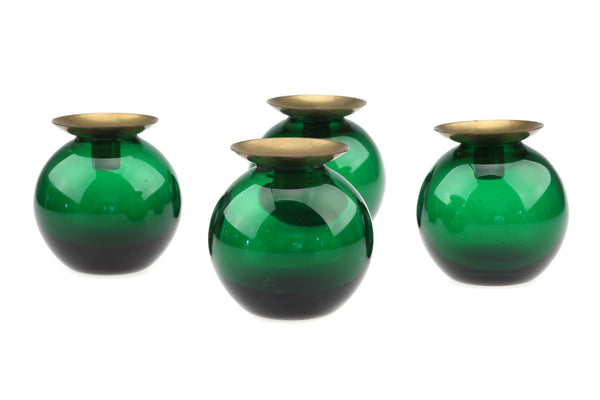 Lindshammar Sweden Green Candle Holders Design Gunnar Ander