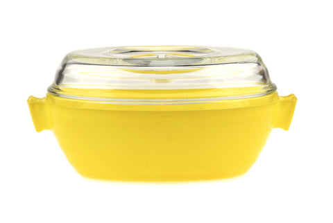 Pyrex Phoenix English Oval Casserole with Lid - Yellow