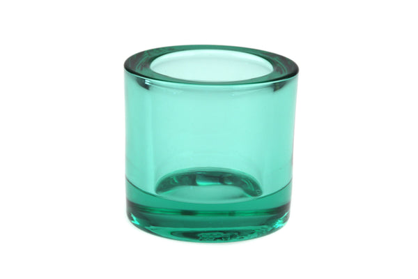 Iittala Finland Marimekko Water Green Glass Candle Holder Votive.. Designed by Heikki Orvola..