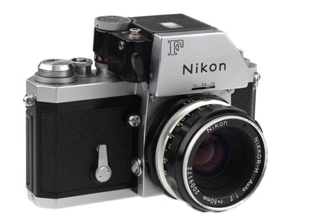 Nikon F With Photomic Finder and Nikkor-H 50mm 1:2 / The camera is in very good condition!