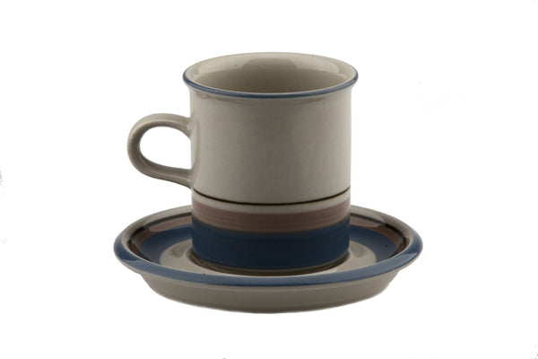 Arabia of Finland Uhtua Demitasse Coffee Cup and Saucer Stoneware