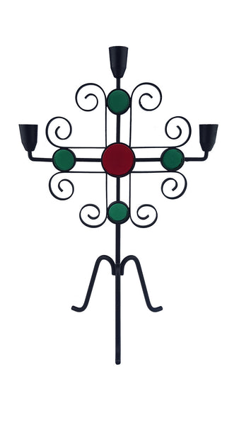 Candelabra Wrought Iron Designed by Gunnar Ander for Ystad Metal