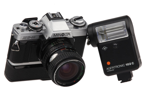 Minolta XG-M - 35mm Film Camera with RCM Tokina 25-50 mm 1:4 Lens.. Retro Photography Retro Camera Vintage Pictures..
