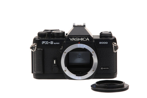 Yashica FX-3 Super 2000 35mm SLR Camera Body with Original Box.. Collectible Retro Photography Retro Camera Vintage Pictures..