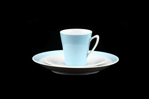 Upsala Ekeby Karlskrona Sweden Coffee Trio Set