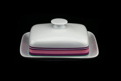 Bavaria Porzellan Germany Wunsiedel Porcelain China Pop Art Butter Dish.. Mid Century Modern German Flower Power.. Made in Germany