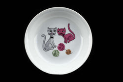 Retro 60s Thun Czechoslovakia Children's Plate with Cat Decor.. Made in Czechoslovakia... Mid Century Vintage Home Deco Kitchenware..