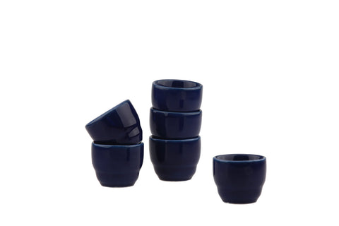 Arabia of Finland Kilta Egg Cup Set 6x Blue