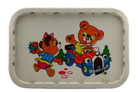 Child's Metal Serving Tray With Bear Design