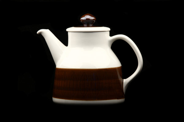 Rörstrand Zweden Koka Brown/Brun Tea Pot