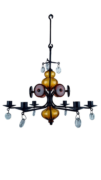 Erik Hoglund chandelier, Boda Nova Glass works