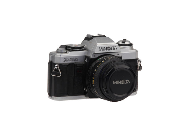 Minolta X-500 - 35mm Film Camera with MD 50 mm 1:1.7 Lens.. Retro Photography Retro Camera Vintage Pictures..