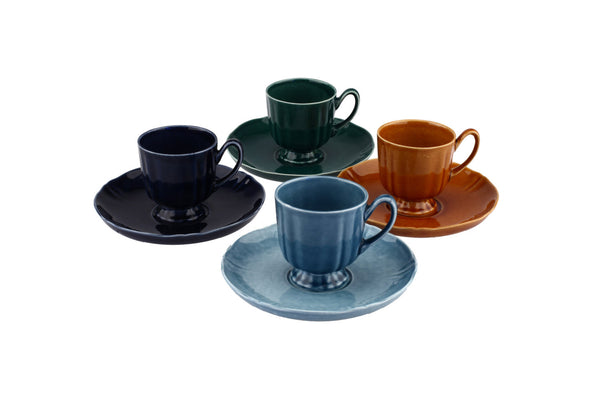 Societe Ceramique Maestricht Cup and Saucers Set 4x
