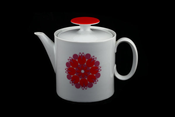 Thomas Rosenthal Porcelain China Pop Art Flower Teapot