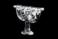 Pukeberg Sweden Crystal Candelabra Candle holder Design Staffan Gellerstedt