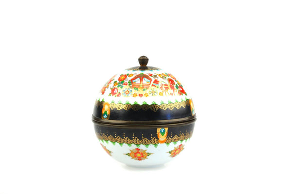 Steinböck-Email Globe Shaped Gilded Lidded Trinket Box