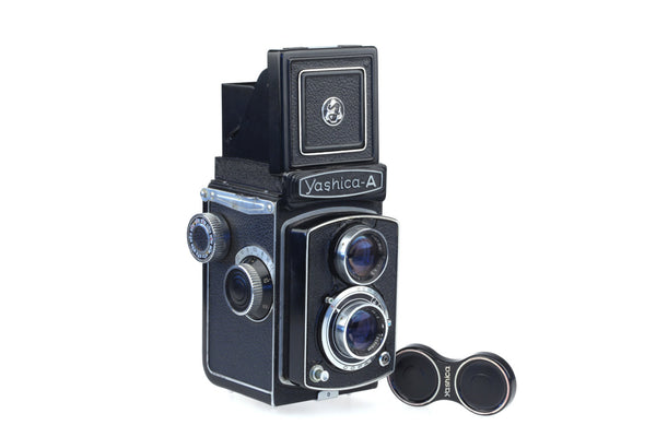 Yashica A - 6x6 cm Film Camera - Tlr With Crank - Collectable - Rollei - 1960's - Yashica-A