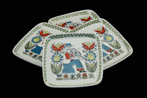 "Figgjo Flint Turi Saga Norway 4x4"" Ceramic Hanging Dish Male"