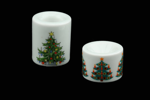 MIB Funny-Leuchter Small Candle Holders with Christmas Tree Decor