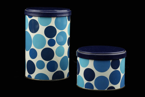 Tomado Metal Container Blue Dots Sixties-Seventies