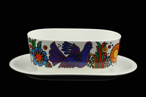 Villeroy and Boch Acapulco Gravy Boat with Attached Underplate