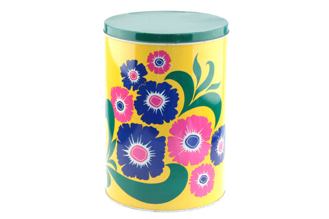 Metal Canister - Storage Container Floral Design