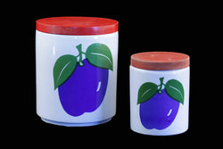 Waechtersbach/Wächtersbach Storage Jar Set Plum Decor