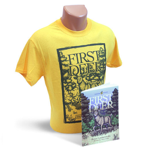 Gold T-shirt and Book Package