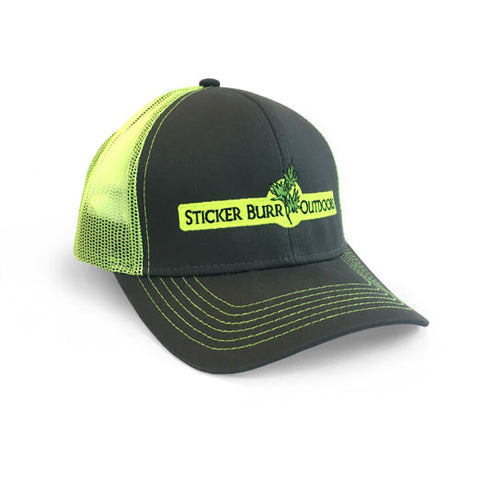 CHARCOAL/NEON YELLOW MESH HAT