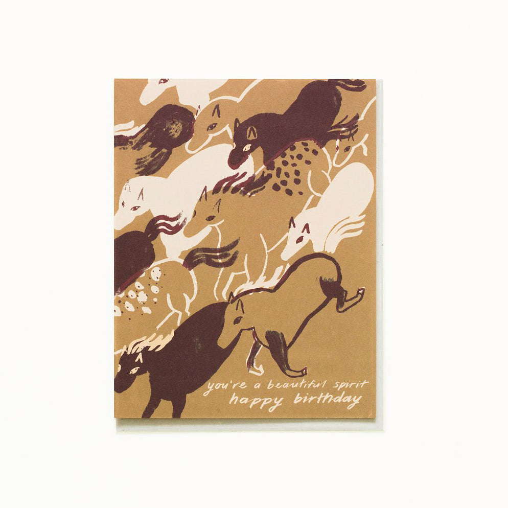 Horses Spirit Birthday Card