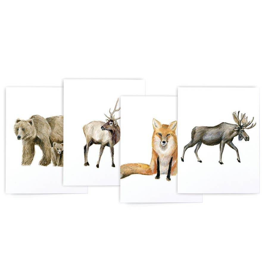 Mountain Animal Card Set