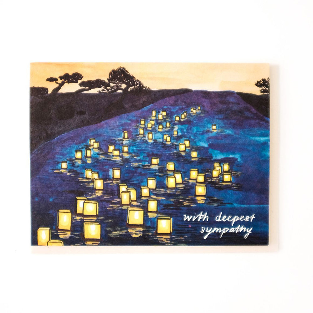 Japanese Lanterns Sympathy Card