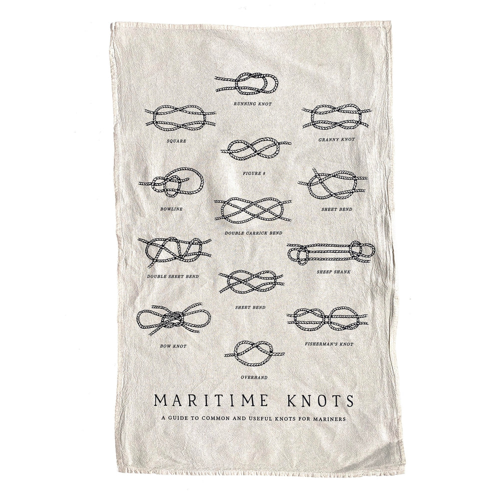 Maritime Knots Tea Towel