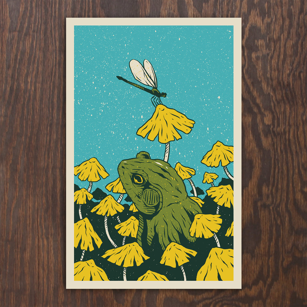 Bullfrog & Dragonfly Screen Print