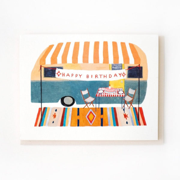 Small Adventure - Camper Trailer Birthday Card