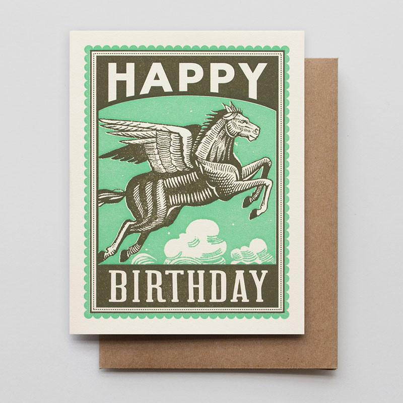 Pegasus Birthday Card